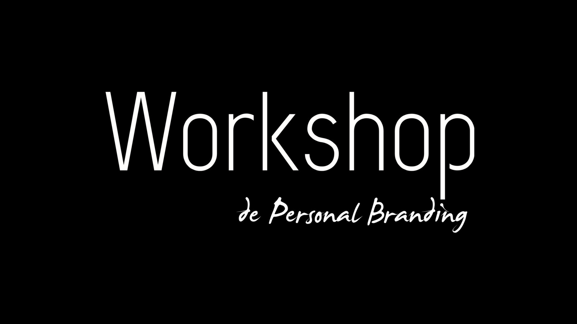 Workshop de Personal Branding